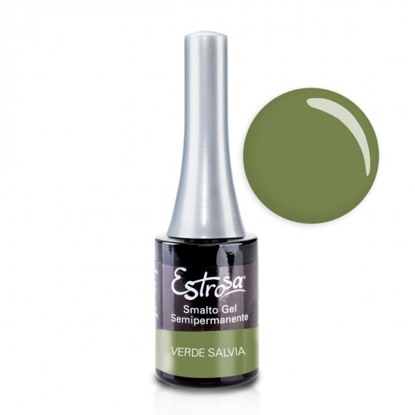 Verde Salvia - Smalto Semipermanente 14 ml Colori smalto Gel - formato 14 ml