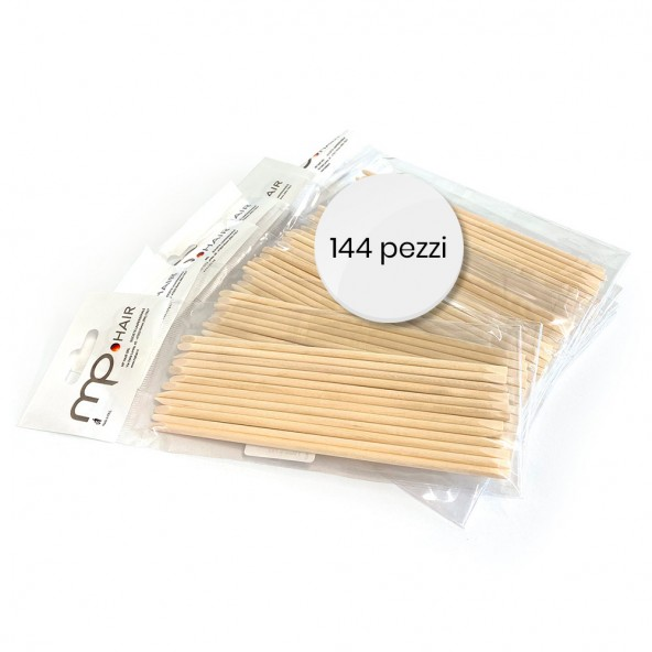 Pack 144pz - Spingipelle in legno Spingi cuticole e sgorbie