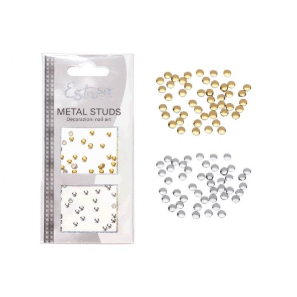 Circle 3 mm Borchie Metal Studs Accessori Nail Art