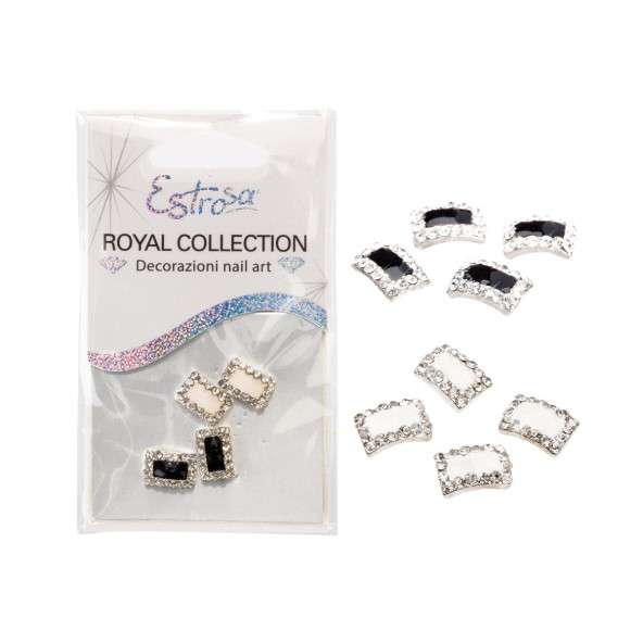 Black & White Jewels Royal Collection Ricostruzione unghie e Decorazioni