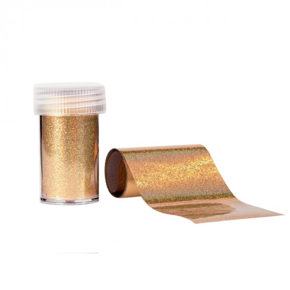 Holographic Gold - Foil Transfer Effect Accessori Nail Art