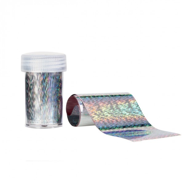 Holographic Silver - Foil Transfer Effect Nail art e accessori