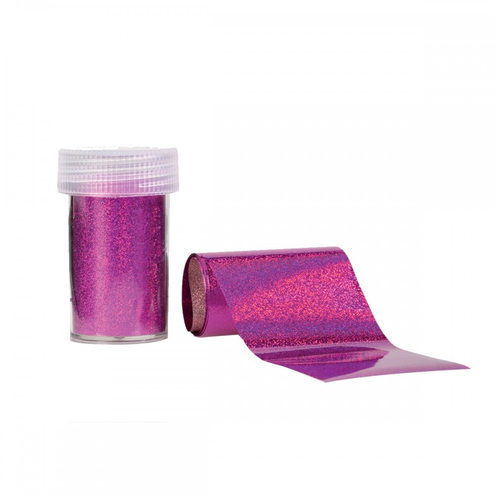 Holographic Fucsia - Foil Transfer Effect Nail art e accessori
