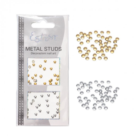 Circle 1 mm Borchie Metal Studs Nail art e accessori