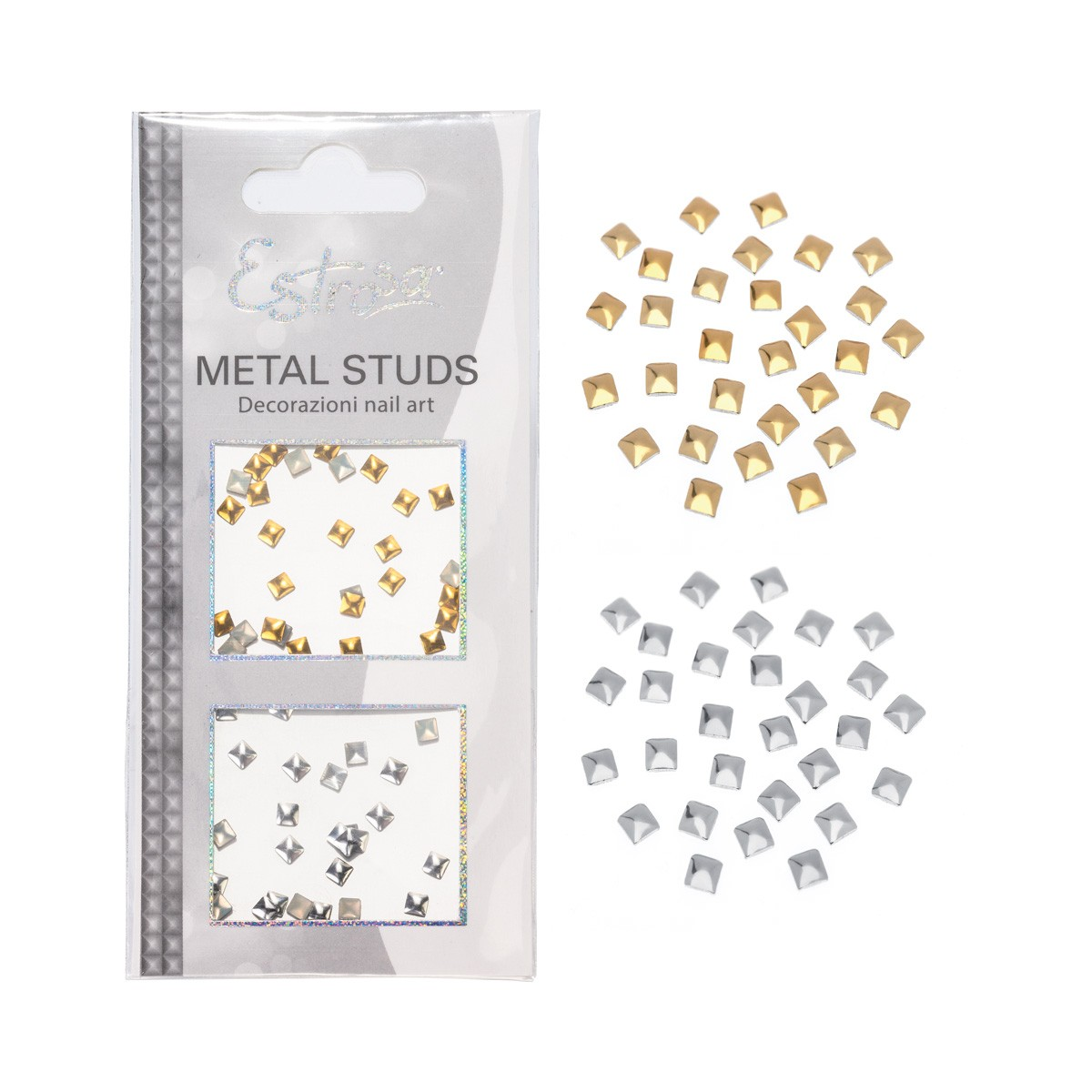 BORCHIE METAL STUDS - SQUARE 4 MM