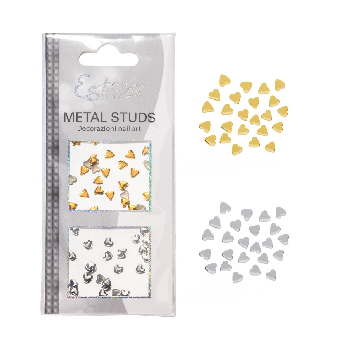 BORCHIE METAL STUDS - HEART 4 MM