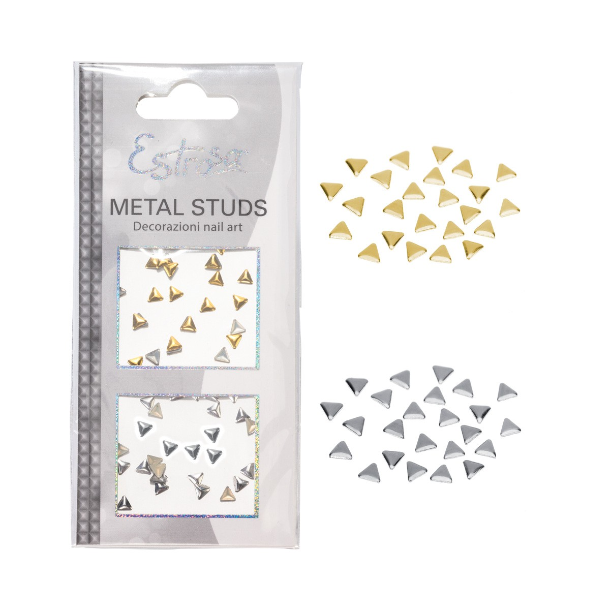BORCHIE METAL STUDS - TRIANGLE 4 MM