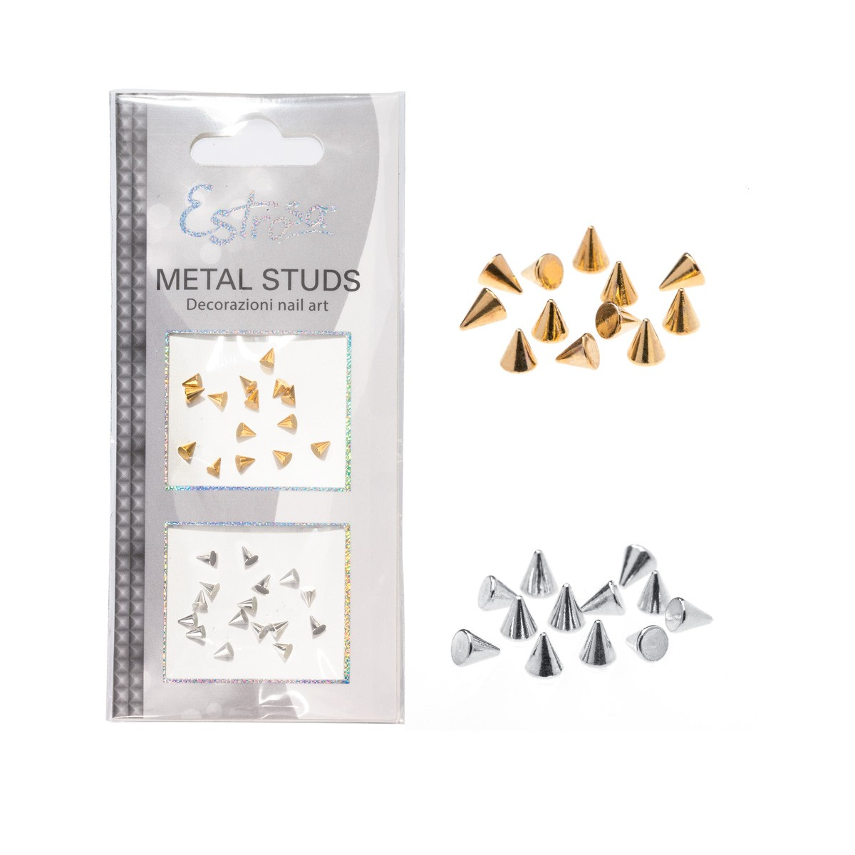 BORCHIE METAL STUDS - CONE 3 MM