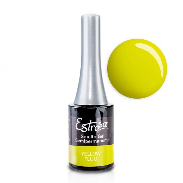Yellow Fluo - Smalto Semipermanente 14 ml Colori smalto Gel - formato 14 ml