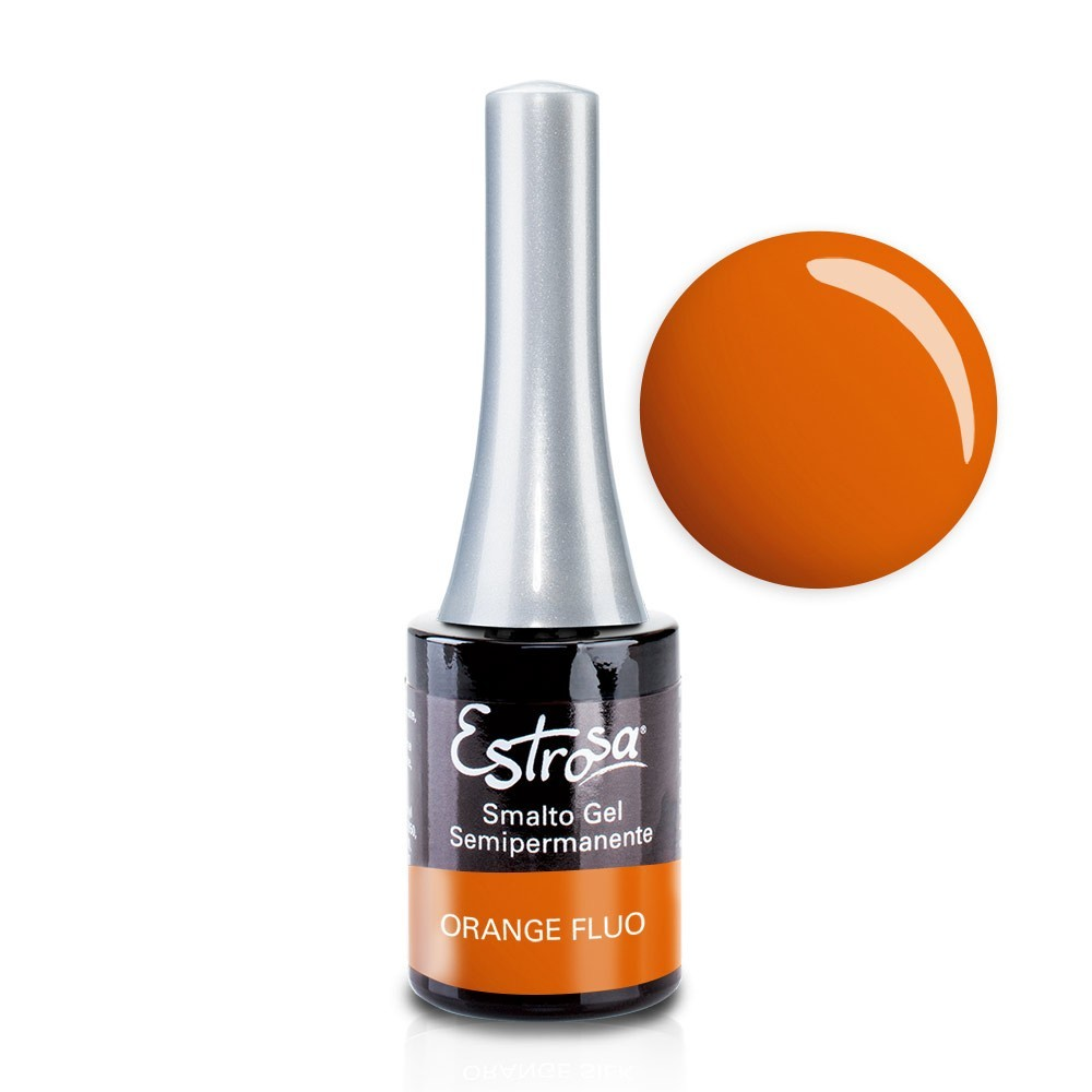Orange Fluo - Smalto Semipermanente 14 ml Colori smalto Gel - formato 14 ml