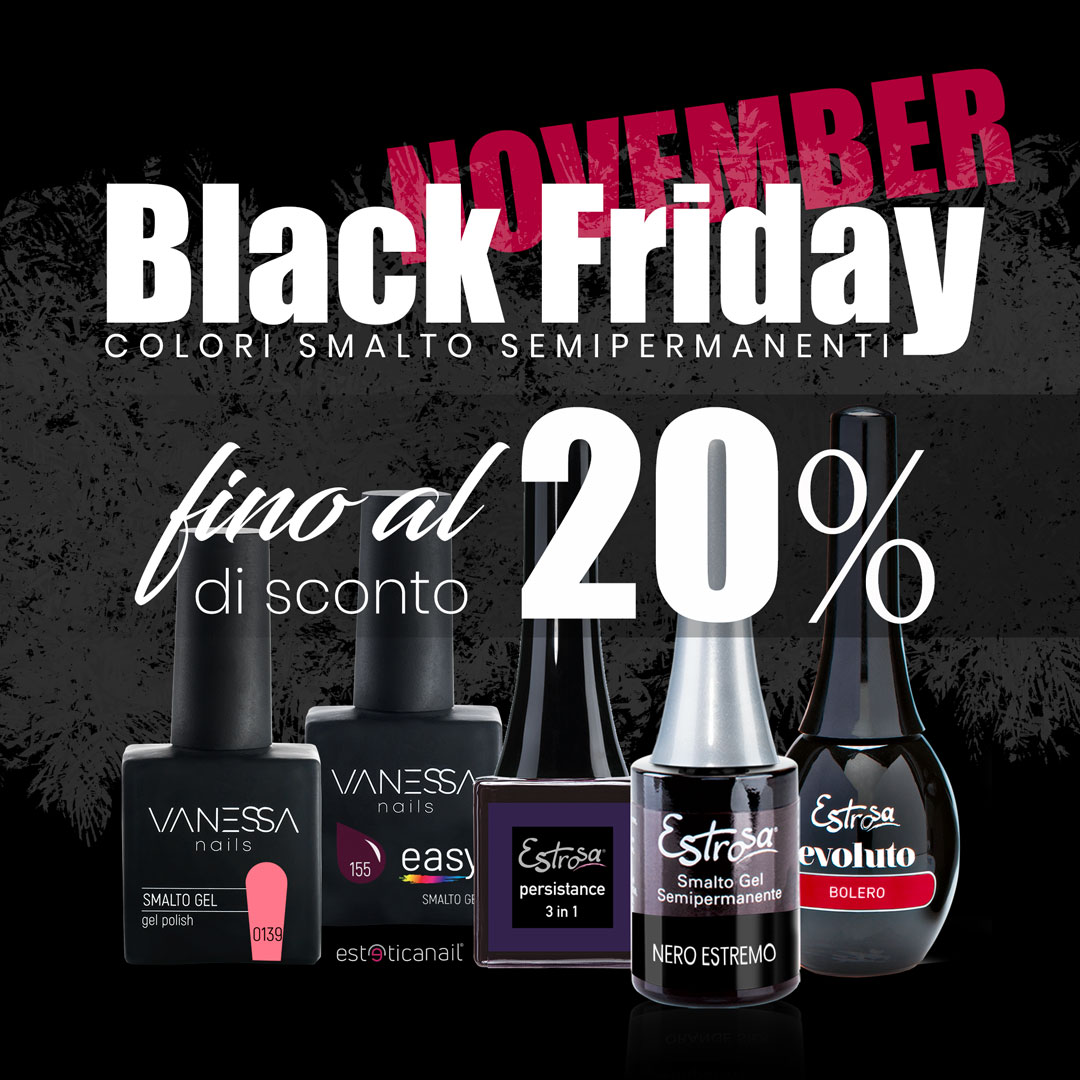 Black Friday Scobnto smalto semipermanente Estrosa